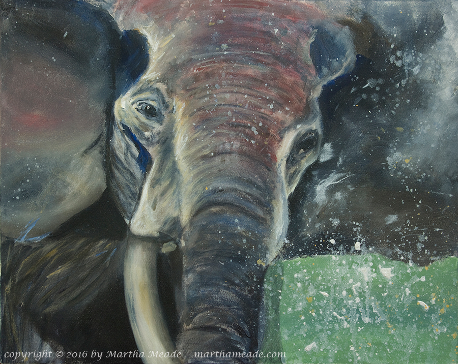 Elephant<br/>16 x 20 x 0.75<br/>acrylic on canvas