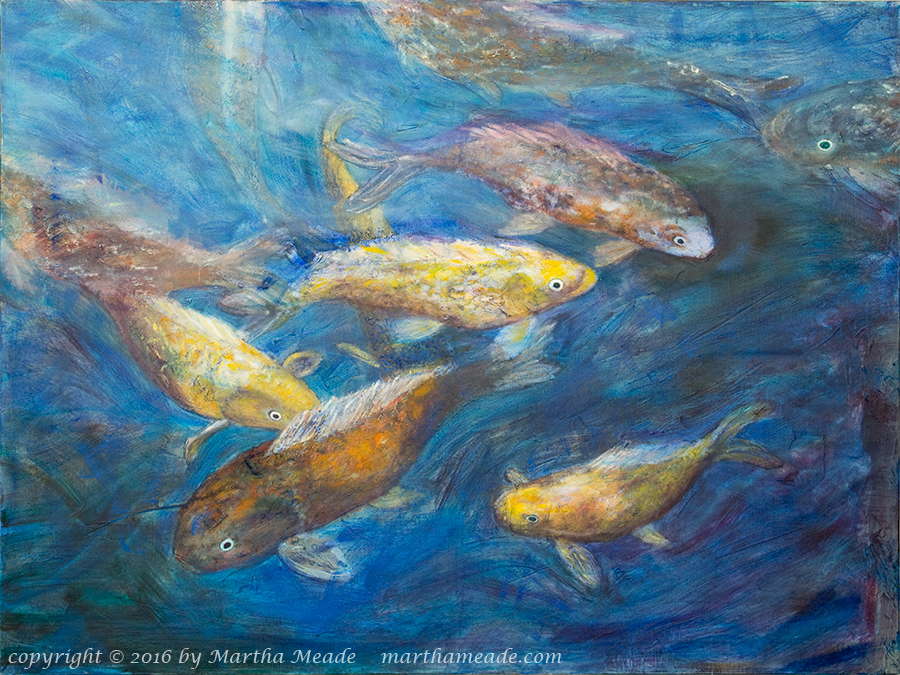 Hawaiian Koi<br/>30 x 40 x 1.5<br/>oil on canvas<br/>SOLD