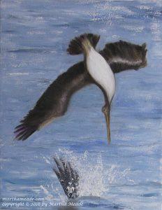 Diving Belly & Splash<br/>14 x 11 x 0.75<br/>oil on canvas