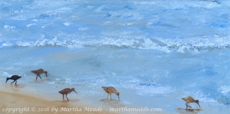 Peaceful Morning<br/>6 x 12 x 0.75<br/>oil on canvas<br/>SOLD