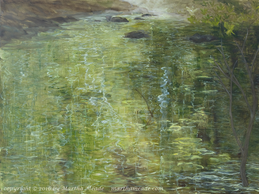 Stream of Consciousness<br/>30 x 40 x 1<br/>oil on canvas<br/>SOLD